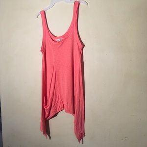 Hard Tail Coral Long Tail Tank Top, Size XS